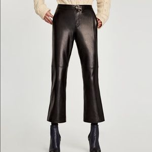 Zara studio new leather pants trousers size M